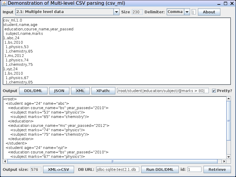 Nested CSV to XML CSV to JSON TDV to XML TDV to JSON Converter affordable Screen Shot